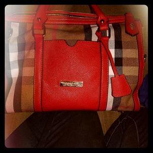 Plaid Burberry Hand Bag